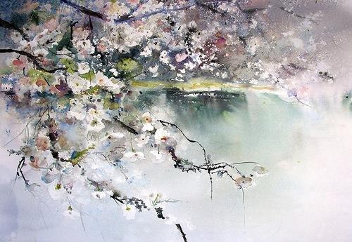 Акварельная весна от Reine Marie Pinchon