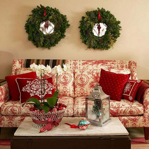 Новогодние украшения на стену - венки