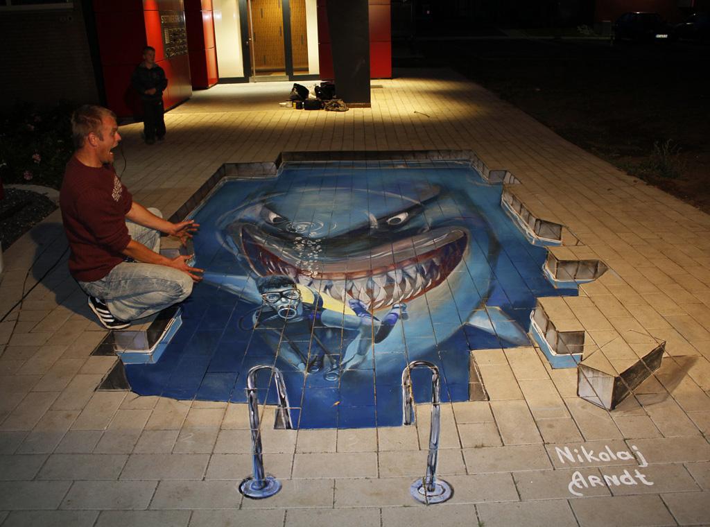 3d 2 Уличные 3D рисунки Николая Арндта