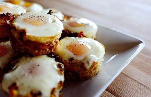 Самый вкусный завтрак в мире: Картофельные корзинки с яичницей-глазуньей