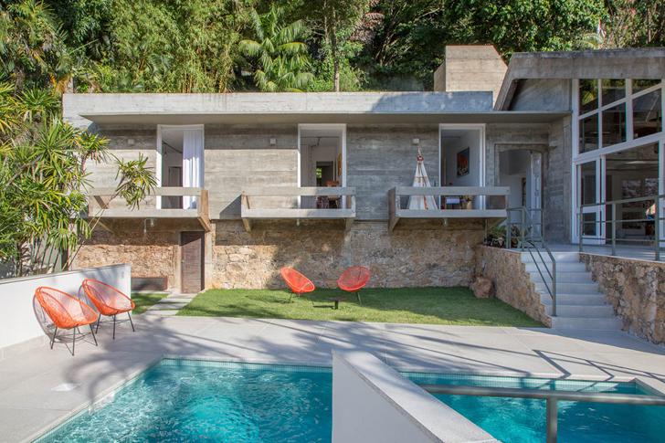 Современный интерьер дома в Бразилии