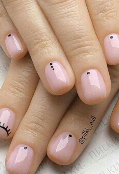 Стильный маникюр в стиле минимализм на акриловых ногтях