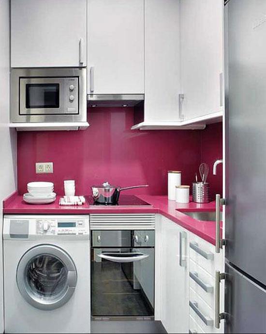 маленькие кухни встроенные фото