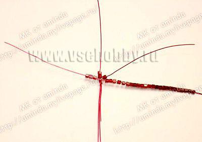 5 круг лепестков розы ручной работы из бисера