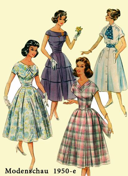 Фасоны платья 50 годов