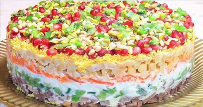 Салат на праздничный стол «Драгоценная россыпь». Очень вкусный рецепт