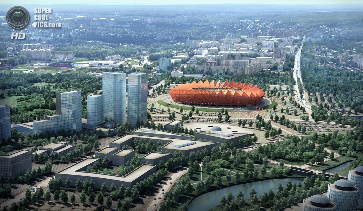 Россия. Саранск. Футбольный стадион «Юбилейный». (Getty Images)