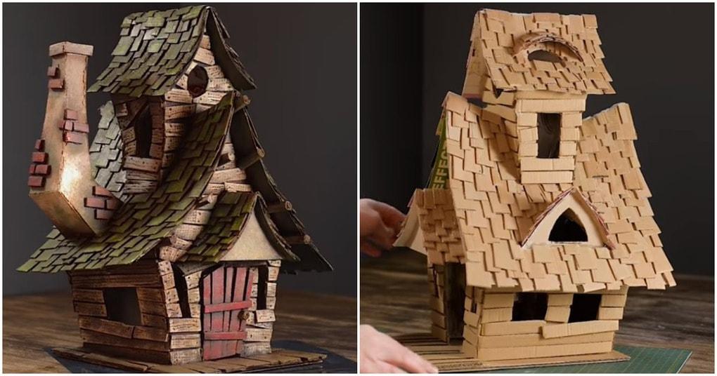 Потрясающий волшебный домик из обычного картона
