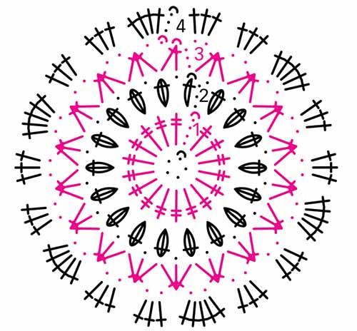 Вязание крючком носки из шестиугольников 9