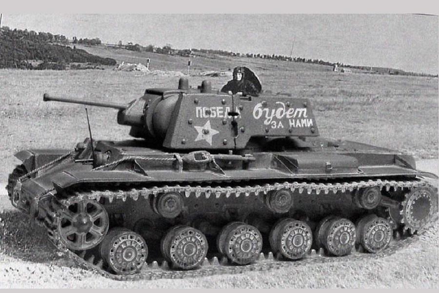 5 танков КВ-1 остановили наступление 3-х танковых дивизий на Ленинград