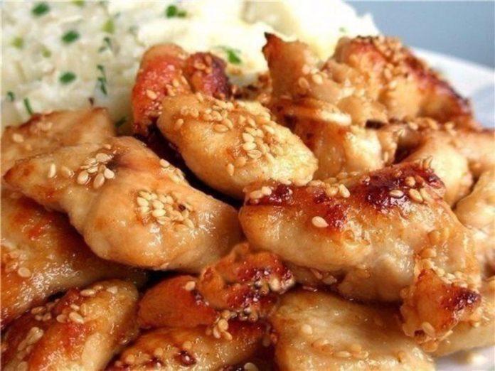 Куриные грудки по-восточному с имбирем и медом!