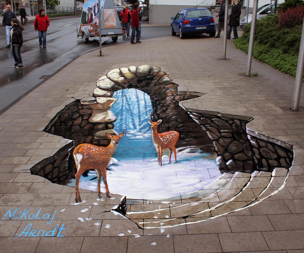 3d 8 Уличные 3D рисунки Николая Арндта