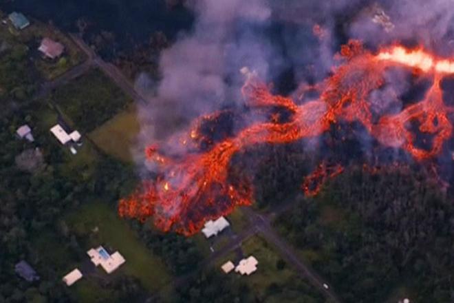 Огненная река прожигает себе путь через вековой лес: видеосьемка с дрона