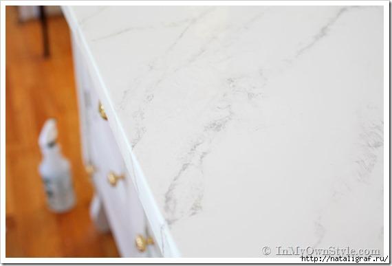 Как сделать мраморный рисунок на стене