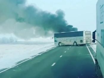 МВД Казахстана: опознаны 32 погибших в ходе возгорания автобуса