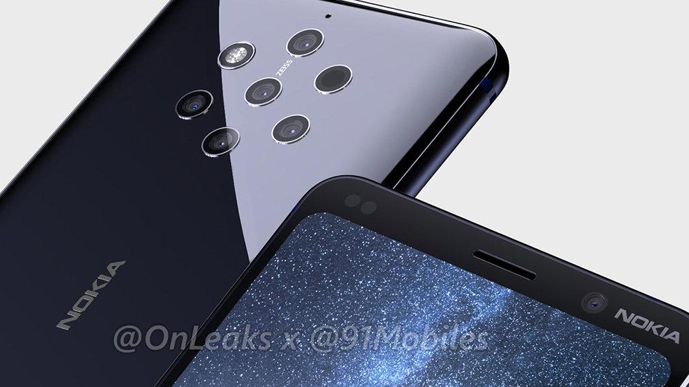 Nokia 9 с пятью камерами засветился на видео в интернете