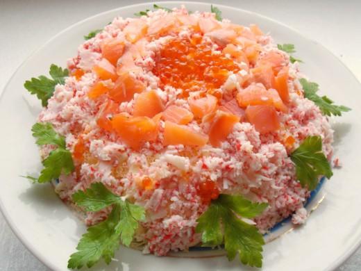 Слоёный салат Самоцветы