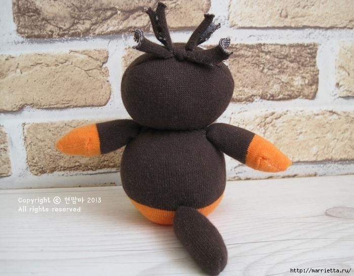 ворона. игрушки из носков (3) (700x545, 257Kb)