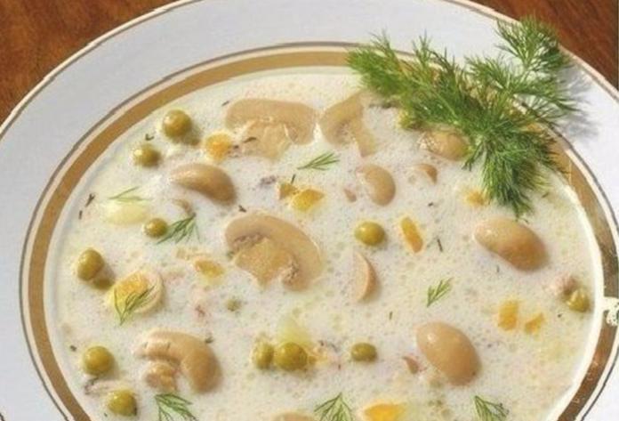 Сырный супчик с грибами — старинный рецепт!