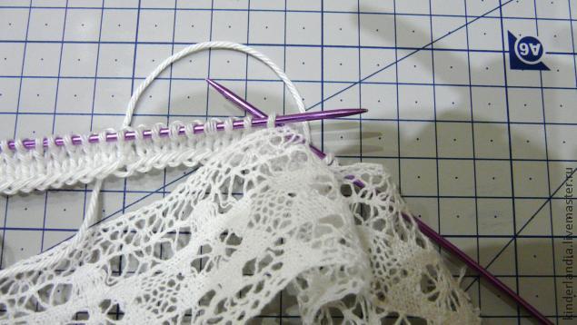 Кружево в вязании. Необычный прием
