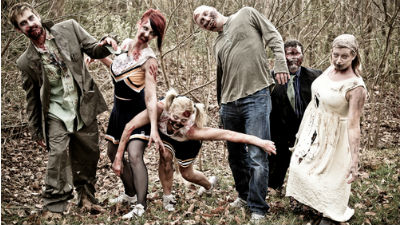В преддверии Хэллоуина в Польше разыграли «зомби-апокалипсис»