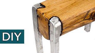 Сплав ДЕРЕВА и АЛЮМИНИЯ. Секретная технология. Как сделать мебель своими руками