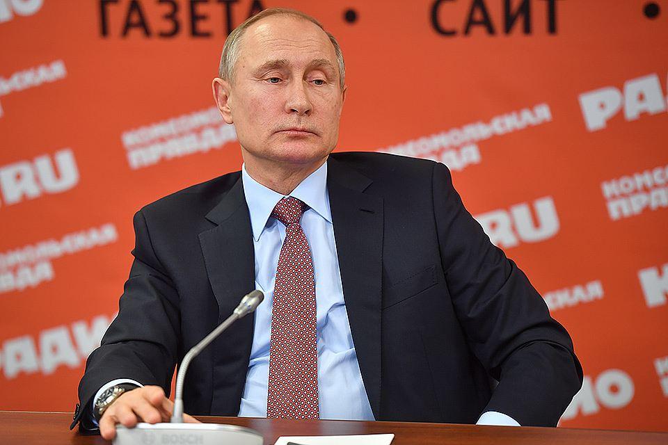 Встреча Владимира Путина с руководителями российских печатных СМИ и информагентств в редакции «Комсомольской правды» 11 января 2018 года