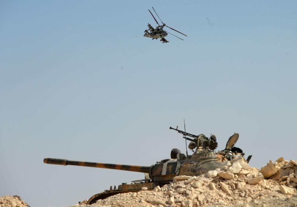 В Сирии потерян российский боевой вертолет Ка-52