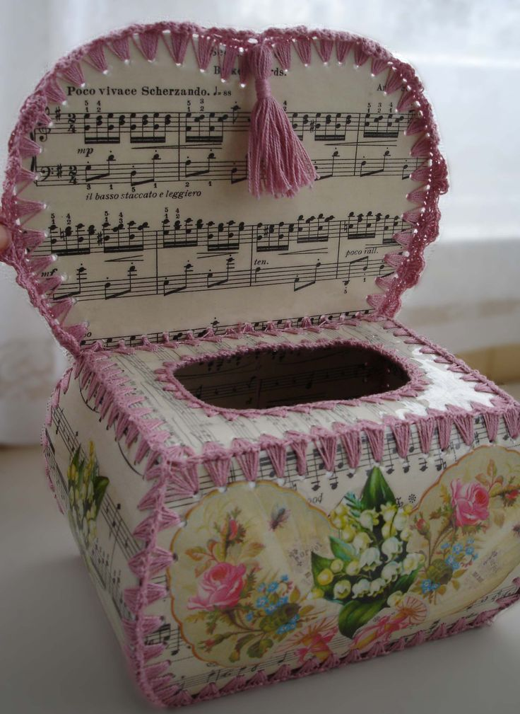 Music Crochet Box inside by Cosmica