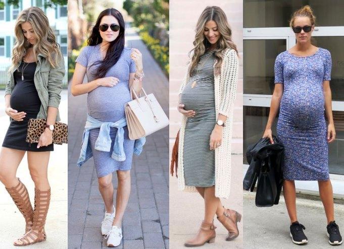 Облегающие платья для беременных - выбор голливудских звезд