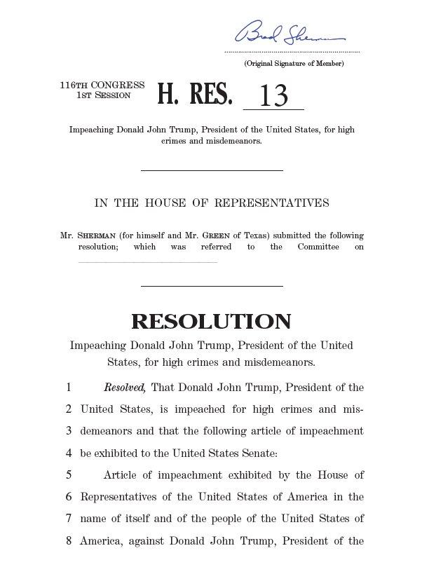 В Конгрессе США требуют объявить Трампу импичмент