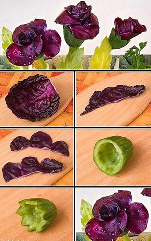 9 вариантов украшений из овощей