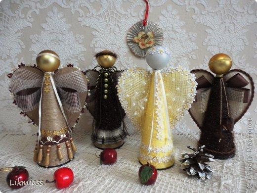 Рождественские ангелы своими руками мастер класс