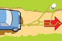 Как вытащить застрявший авто…