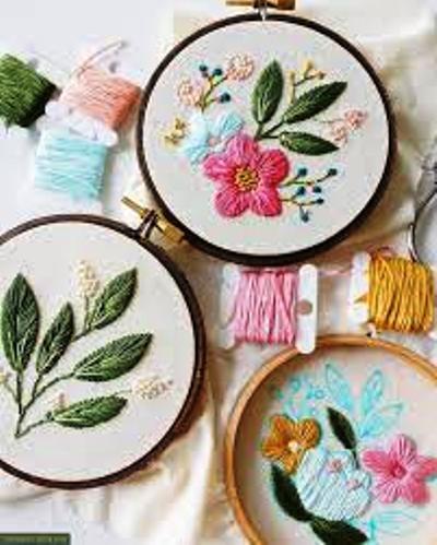 Искусство вышивки гладью от Кэйтлин Бенсон