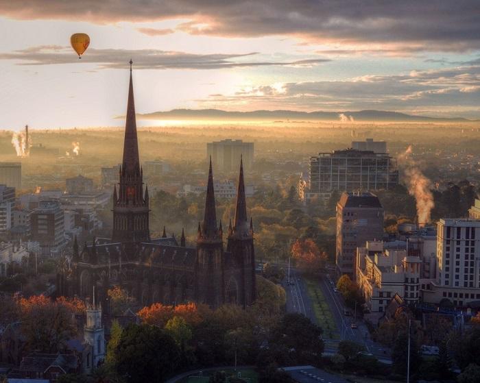Вид на город Мельбурн.