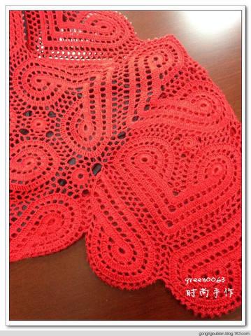 """Вязание со схемами. Красное """"сердечное"""" платье!"""