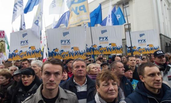 Михомайдан набирает обороты: Саакашвили под Радой призвал к отставке Порошенко