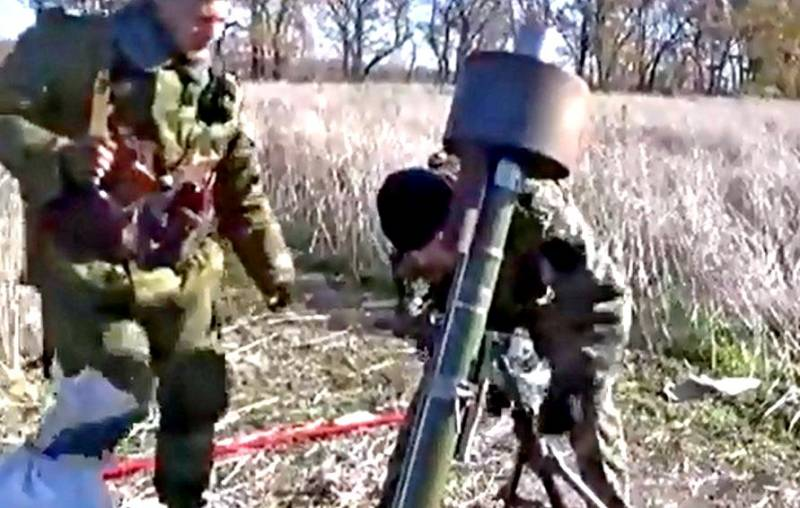 Испытание миномета с глушителем 82-мм производства ДНР