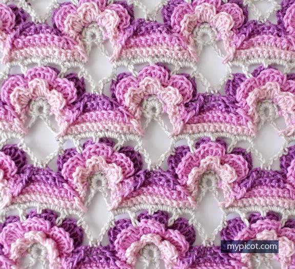 Цветочный мотив - вязание крючком. Морские раковины из папье-маше