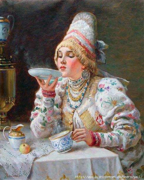 L'heure du thé (490x610, 154Kb)