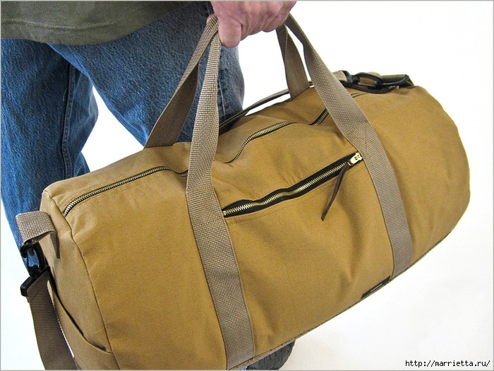 Дорожная мужская сумка своими руками