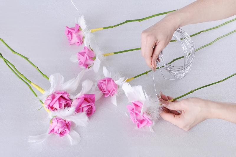 Как сделать стебельки для цветов