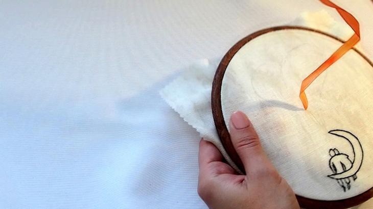Как вышить сердце шёлковыми лентами