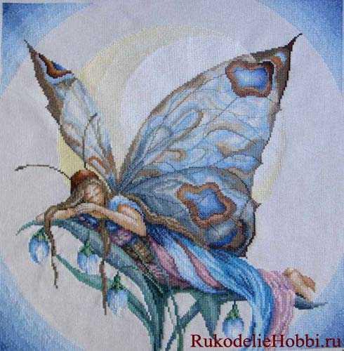 Вышиваем бабочку