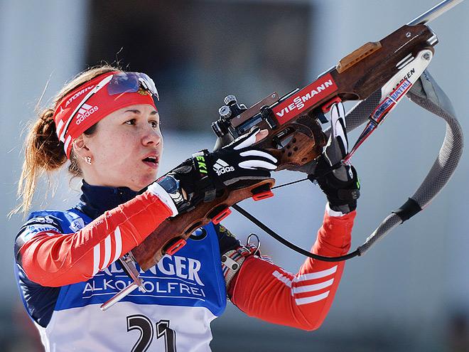 Российские биатлонистки завоевали весь пьедестал в гонке преследования на этапе Кубка IBU