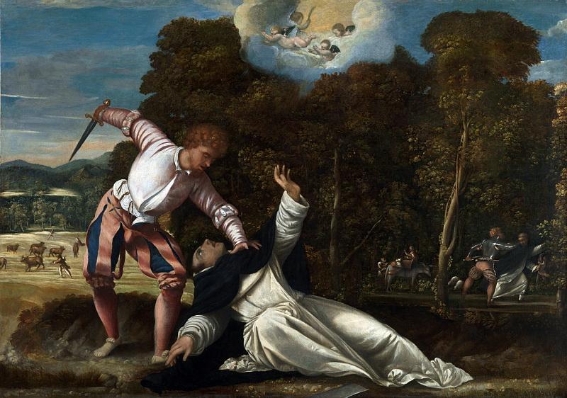 Bernardino da Asola - The Death of Saint Peter Martyr. Национальная галерея, Часть 1