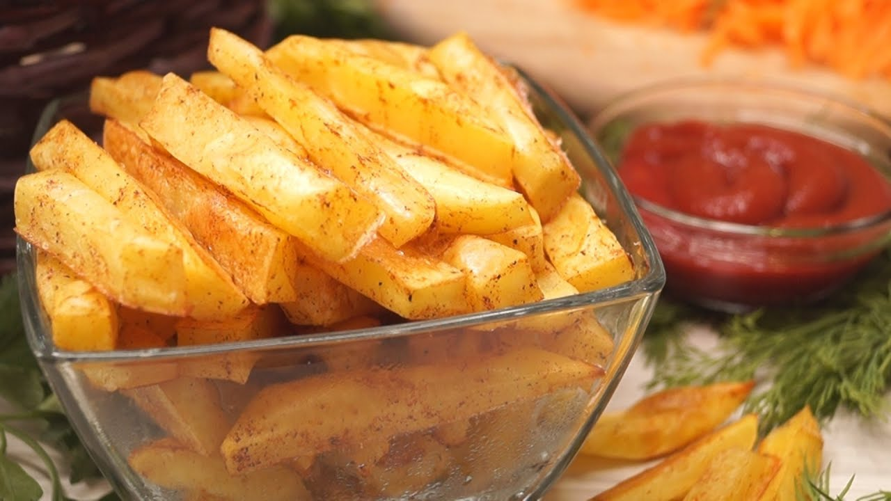 Картинки по запроÑу Ð'Ñ‹Ñтрый и вкуÑный картофель фри без маÑла, в духовке