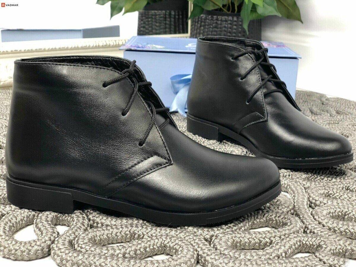 Черные ботинки для женщин. /Фото: vadmar.com