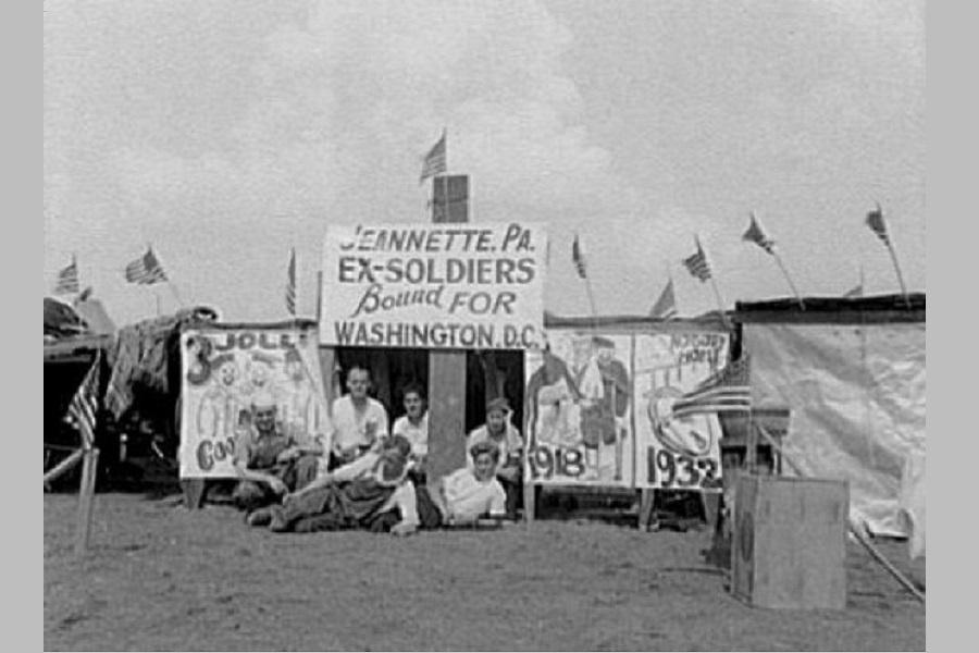 Расстрел (голодного) народа в Вашингтоне в 1932-ом году